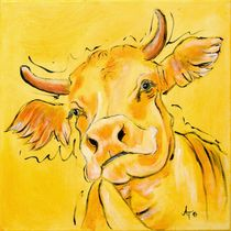"the yellow cow ""Lotte"" von Annett Tropschug"