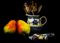 Pears And Paints Still Life by Jon Woodhams