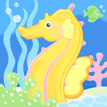 sandy the seahorse by laura nikiel