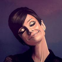 Audrey Hepburn painting von Paul Meijering