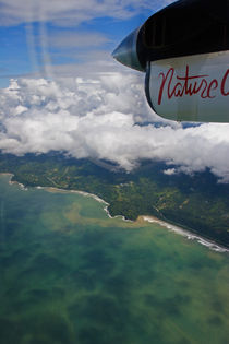 Costa Rica coastline from airplane by Jörg Sobottka