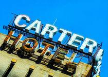 Carter Hotel Sign von Jon Woodhams