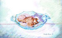 Blue Antique Dish by Linda Ginn