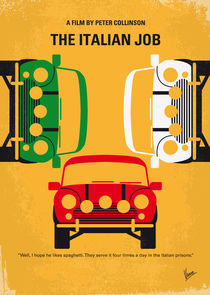 No279 My The Italian Job minimal movie poster von chungkong