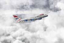 British Airways A380 by James Biggadike