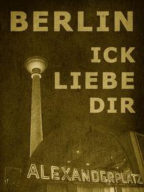 BERLIN LIEBE - gelb von crazyneopop