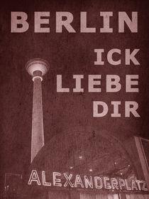 BERLIN LIEBE - rot von crazyneopop