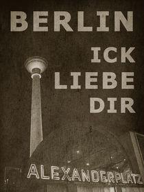 BERLIN LIEBE - sepia von crazyneopop