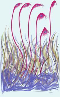 Waltzing Flamingos von aldita bundo