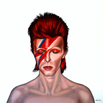 David Bowie Aladdin Sane by Paul Meijering