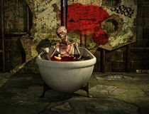 Bath Time For Zombie von Liam Liberty