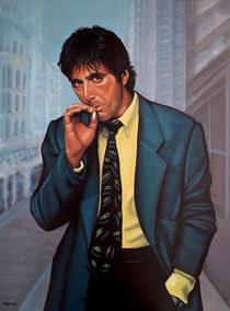 Al Pacino painting by Paul Meijering