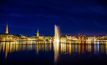 Hamburger Alster Panorama by Dennis Stracke