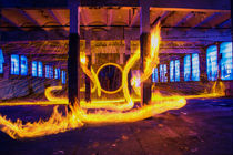 Der Feuerdrache / Die Feuerschlange Lightpainting von Dennis Stracke