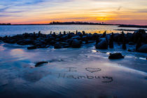 I Love Hamburg Sonnenuntergang by Dennis Stracke