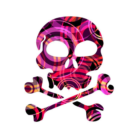 Skull-p5-atmospheric-circle-design