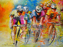Le Tour de France Acrylics 03 by Miki de Goodaboom