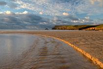Polzeath Beach, North Cornwall. by Michael Truelove