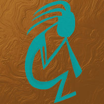 The Teal Kokopelli by Michelle Brenmark