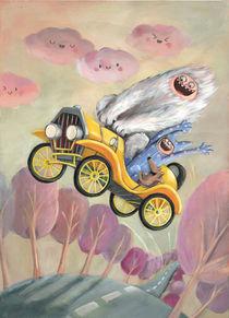 Monsters in Yellow Car von Monika Suska