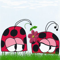 Ladybug Wooing His New Love by Michelle Brenmark