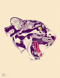 Tiger scream - Stencil Art - Urban Art von Hey Frank!