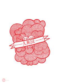 Love Hearts Doodles - Amor garabatos  von Hey Frank!