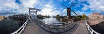 Niederlande, Leiden: Molen de Put Windmühle von Ernst  Michalek