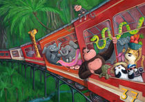 Jungle Train of Animals by Monika Suska