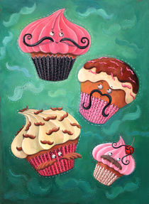Cupcakes and Mustaches by Monika Suska