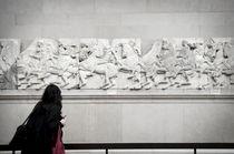 Visitors at the British Museum von Leopold Brix