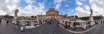 Italien, Rom: Ponte Sant'Angelo (Engelsbrücke) von Ernst  Michalek