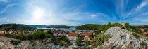 Kroatien, Skradin: Blick von der Festung über die Marina und die Stadt von Ernst  Michalek