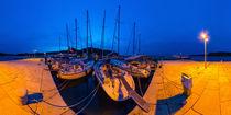 Kroatien, Susak: Abendstimmung im Hafen von Ernst  Michalek
