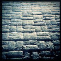 Snowy Brick Patio by Green Moon Art