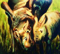 Rhino Love by Green Moon Art