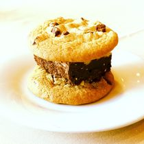 Cookie Brownie Sandwich by Green Moon Art