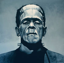 Boris Karloff as Frankenstein by Paul Meijering