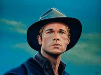 Brad Pitt painting von Paul Meijering
