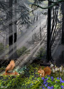 Waldfrühling by Heidi Schmitt-Lermann