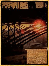 Sonnenuntergang an der Seine von Uwe Karmrodt