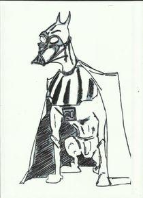 Darth Vader doberman sketch by Vladan Milatovic
