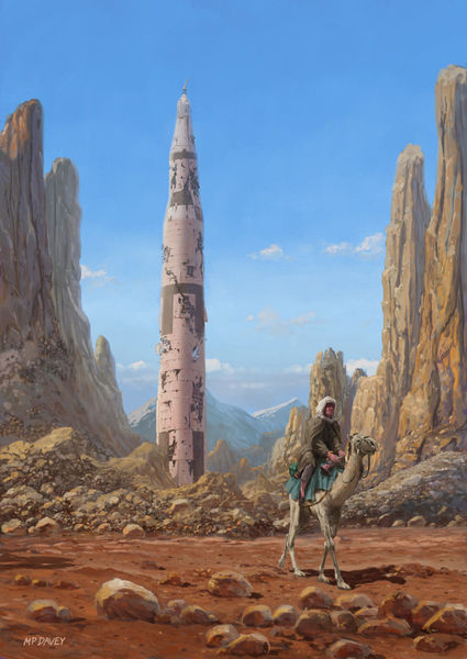 Old-saturnv-rocket-in-desert