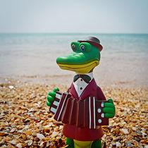 Crocodile Gena on the beach at Sea von dizdetcpizainy