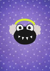 Purple-earflaps-bug-snowflakes-poster