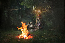 shaman with a fire von Yana Istoshina