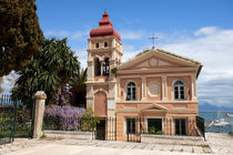 Mandrakinas Church, Corfu, Greece von Andreas Jontsch