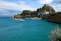 Old Fortress of Corfu Town, Corfu sailing club, Corfu, Greece by Andreas Jontsch