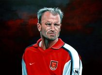Dennis Bergkamp Arsenal painting by Paul Meijering