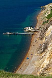 The Beach and Sand Cliffs of Alum Bay von Rod Johnson